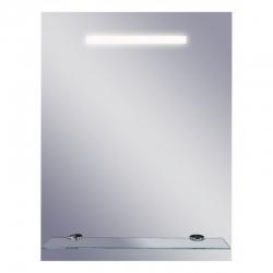 Zrcadlo s osvětlením a poličkou Linea II 50x65 cm